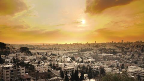 Sunset time-lapse from the BYU Jerusalem center Footage