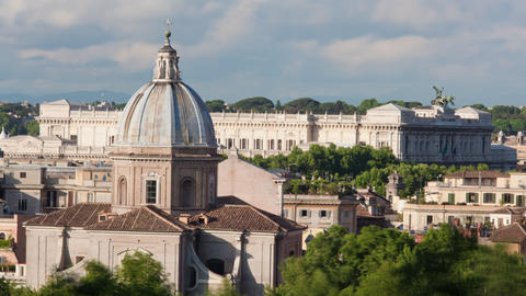 Times-lapse of the Palace of Justice and San Giovanni dei Fiorentini Footage