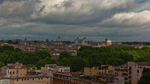 Time-lapse of the Roman skyline with the Vittoraino in the background Footage