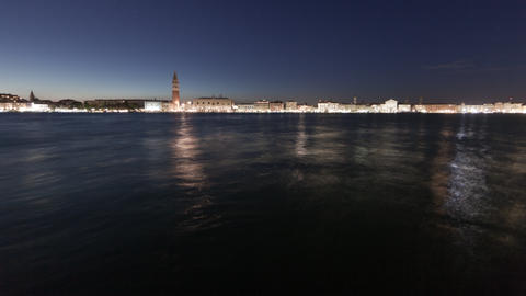 Saint Mark Square time-lapse at night Footage