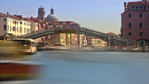 Time-lapse of the Scalzi bridge in Venice Footage