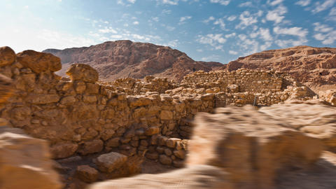 Daytime time-lapse of the ruins at Qumran Footage