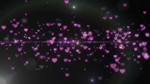 Lens Flares and Particles 16 heart Q1f 4k Animation