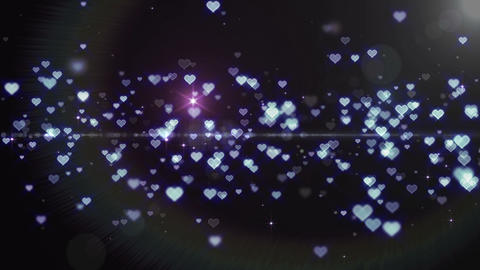 Lens Flares and Particles 16 heart T1f 4k Animation