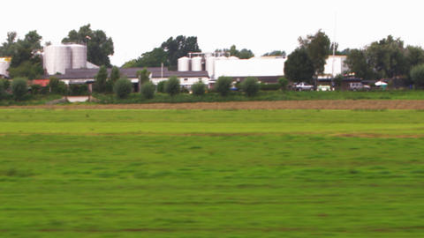 Shot of the Amsterdam countryside from a train Footage