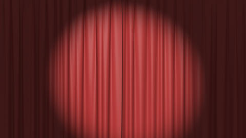 Red Curtain with the Spotlight Animation