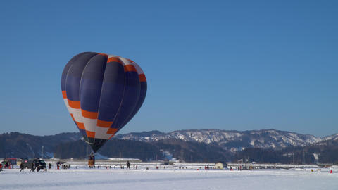 Blue sky and a hot air balloon Footage