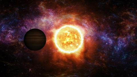Solar Eclipse Animación