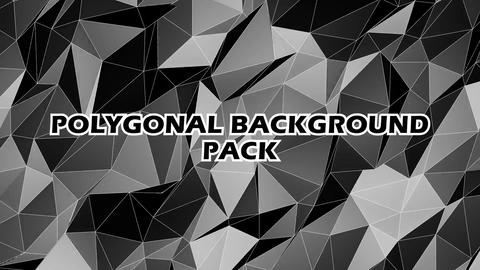 Polygonal Background Pack 4 in 1 After Effects Template