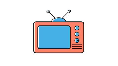tv, digital gadget animation Footage