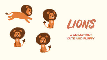 Lions Hand Drawn Pack Premiere Pro Template
