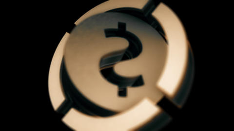 Dollar icon in PNG format with ALPHA transparency channel Footage