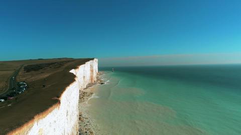 Flight along the British coast with its wonderful white cliffs Archivo