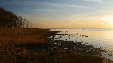 Orange sunset on the lake Footage