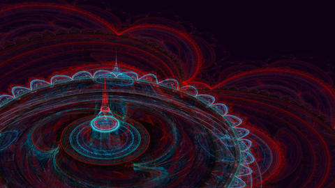 Abstract colorful fractal in red and blue color Animation