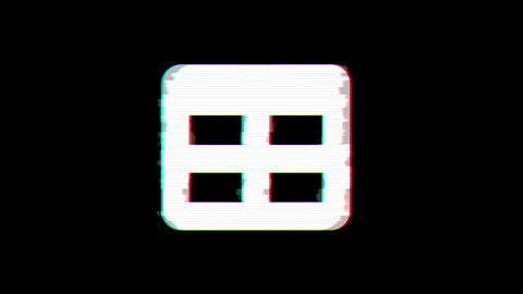 From the Glitch effect arises table symbol. Then the TV turns off. Alpha channel Premultiplied - Animation