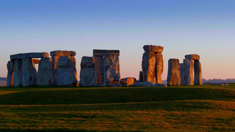 Stonehenge is a famous landmark in England Live Action