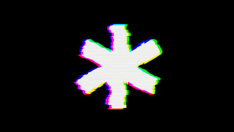 From the Glitch effect arises star of life symbol. Then the TV turns off. Alpha channel Animation