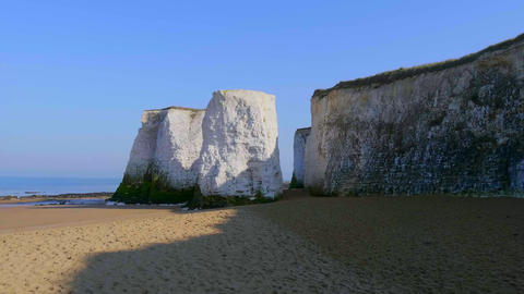 Beautiful Botany Bay in Kent England with its white rocks Footage