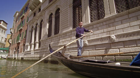 VENICE, ITALY - May 2: A gondola near the Ponte Tron bridge on May 2, 2012 in Ve Footage