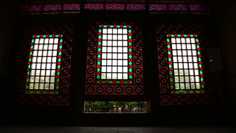 In iran inside the old antique mosque Footage
