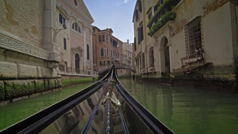 A gondola bow moves in slow motion Footage