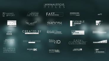 Elegant and Corporate Minimal Titles For Movie Trailers After Effects Template
