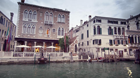 Venetian hotel and water alleyway on the Grand Canal Footage