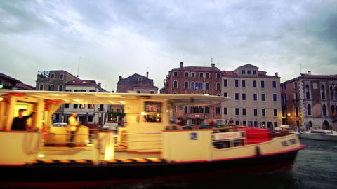 Stationary shot of buildings across the Grand Canal Footage