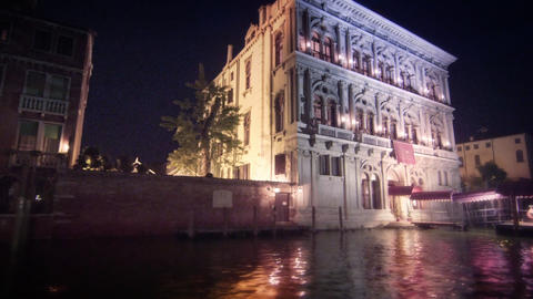 Old Venetian facade from Grand Canal Footage