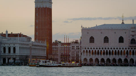 Static shot of Piazza San Marco and the Doge's palace from San Giorgio Footage