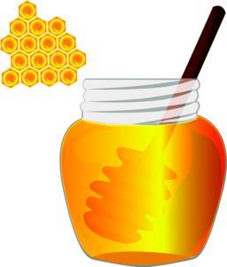 Honey in a jar. Vector illustration Vector