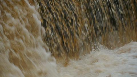Golden waterfall Footage