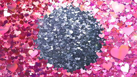 Glitter Heart Frame 2 Ch Pink Flash 4k Animation