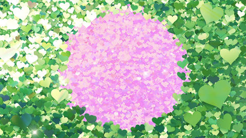Glitter Heart Frame 2 Ch Green Flash 4k Animation