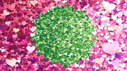 Glitter Heart Frame 2 Ch Pink 4k CG動画素材