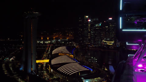 Cityscape view from Singapore Flyer Footage