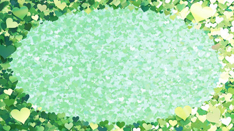Glitter Heart Frame 2 Dh Green 4k Animation