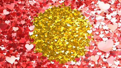 Glitter Heart Frame 2 Ch Red 4k Animation