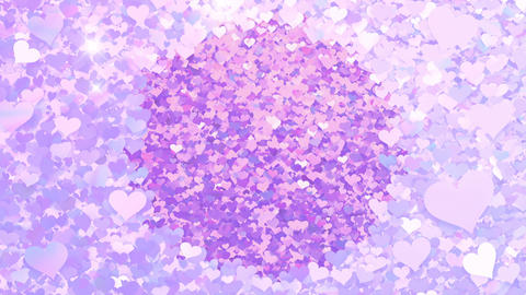 Glitter Heart Frame 2 Ch Violet Flash 4k Animation