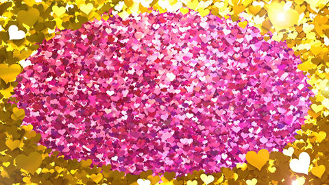 Glitter Heart Frame 2 Dh Gold Flash 4k Animation