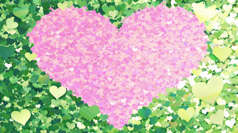 Glitter Heart Frame 2 Hh Green 4k Animation