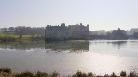 Famous Leeds Castle in UNITED KINGDOM - KENT, UNITED KINGDOM - FEBRUARY 20, 2019 Live Action