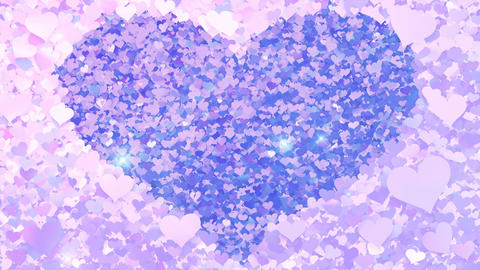 Glitter Heart Frame 2 Hh Violet Flash 4k Animation