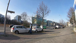 Time Lapse: Traffic In Front of Konrad-Adenauer-Haus In Berlin, Germany Footage