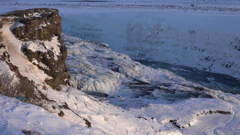 Gullfoss, Iceland, Europe Stock Video Footage