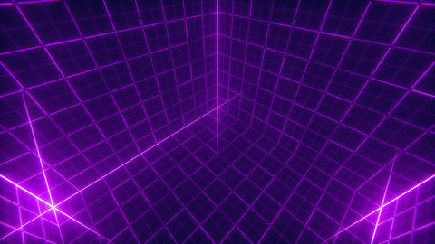 Grid Cube Background Animation