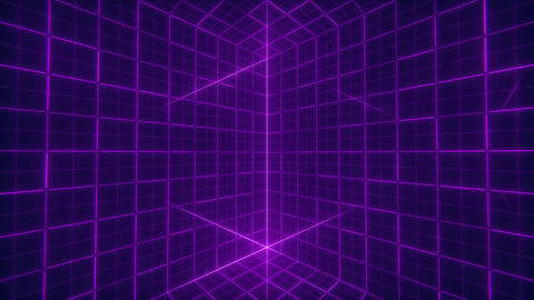 Grid Cube Background Stock Video Footage