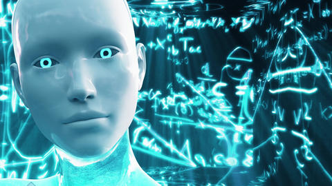 4K Artificial Intelligence AI Scientific Concept, Stock Animation