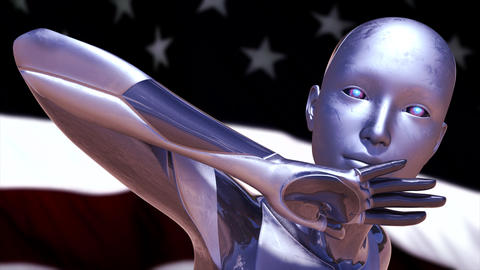 4K USA AI Artificial Intelligence Concept Animation